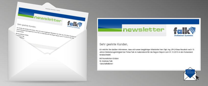 Newsletter für E-Mail-Versand