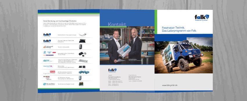 DIN A4 Faltblatt mit Produktinformationen
