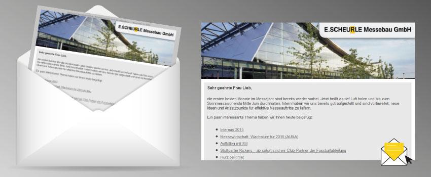 E-Mail Newsletter mit individueller Gestaltung